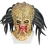 Déguisement Cosplay Costume Masque Deluxe Latex 1:1 Réplique Casque Jungle Hunter Accessoire pour Adulte Homme Halloween