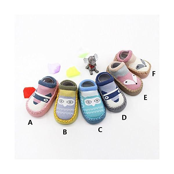 MAYOGO Calcetines Corto Bebe Niño Recién Nacidos Calcetines de Bebé Niña Algodón Antideslizantes Dibujos Animados bebés… 1