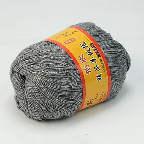 New High Quailty 50g grigio matassa del filato per maglieria cashmere lana pettinata Super morbida e liscia fibra a mano Knit Materiale occorrente Discussione calda