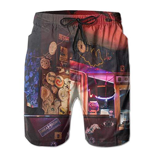 Preisvergleich Produktbild jiger Mens Swim Trunks Summer Cool Quick Dry Board Shorts Bathing Suit, Free Stock Photo of Art,  Bar,  Decoration, Beach Shorts Swim Trunks