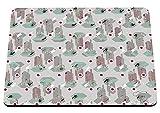 hippowarehouse modernes Kaktus Muster bedruckt Mauspad Zubehör Schwarz Gummi Boden 240mm x 190mm x 60mm, rot, Einheitsgröße