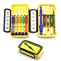 Screwdriver Set, E-Durable Precision Repair Tool Kit Screwdriver Tweezers and Pry Bar Set for Phone, Tablet, Computer, Camera and Other Electronics - 10 Pcs Kit
