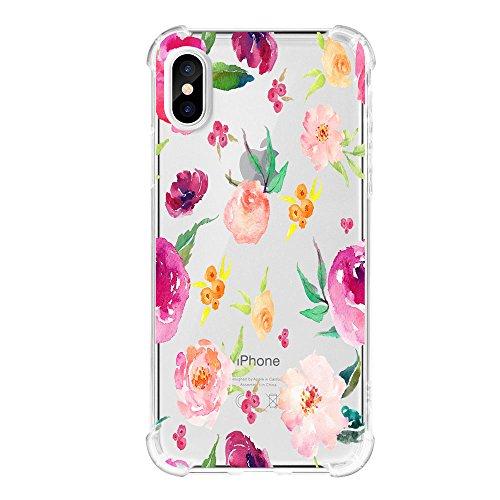Preisvergleich Produktbild iPhone X Hülle Clear Luftpolster-Technologie Handyhülle Silikon Slim Bumper case cover für iPhone X (3, iPhone X)