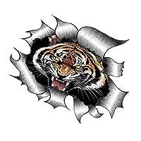 Sticar-it Ltd RIPPED TORN METAL Car Sticker Bengal Tiger Roar design Vinyl decal