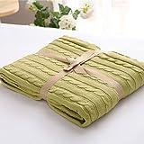 desy hergestellt mit Bild, solide, 100% Baumwolle, Decke: 120x 180cm, M: 180x 200cm m grün