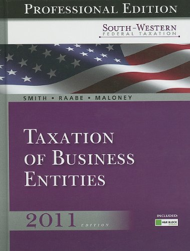 south-western-federal-taxation-2011-taxation-of-business-entities-professional-edition-with-hr-block
