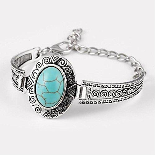 Dame Böhmischen Türkis Armband Dreieck Pfeil Armband Auspicious Wolke Textur Armband Wristband Valentinstag Ein Gutes Geschenk (Stimmung Ring Und Halskette)