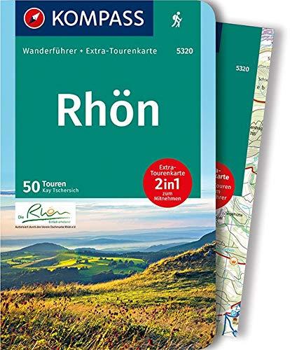 KOMPASS Wanderführer Rhön: Wanderführer mit Extra-Tourenkarte 1:50.000, 50 Touren, GPX-Daten zum Download: Wandelgids met overzichtskaart