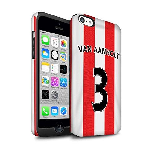 Offiziell Sunderland AFC Hülle / Glanz Harten Stoßfest Case für Apple iPhone 5C / Watmore Muster / SAFC Trikot Home 15/16 Kollektion Van Aanholt