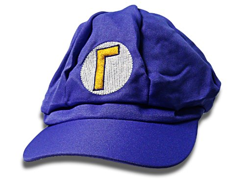 Super Mario Mütze Lila, Mario Kostüm, Einheitsgröße, Unisex Mütze für (Bros Mario Bowser Kostüme Super)