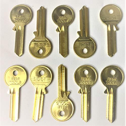 Key Blanks Universal U5D UL050 UL1 5 Pin Cylinder 10 Superior Quality Solid  Brass Spare Keys Multiple Keys Great for Professional Key Cutters &