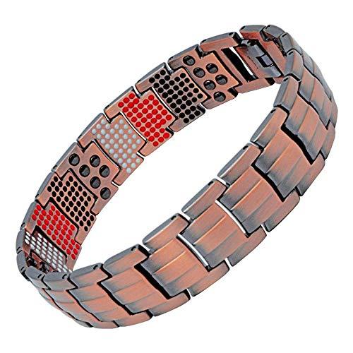 WDWSJYD2019 Pure Copper Magnetic Bracelet Modische Zähigkeit Herrenschmuck Vintage Negative Ions Germanium Charm Wristband-in Bangles von Jewelry & Accessories (Armbänder Charms 100 Für)