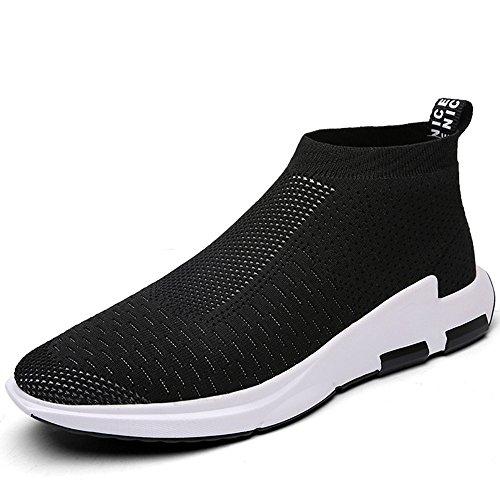 Sitaile uomo scarpe da ginnastica basse sportive outdoor sneakers,nero,43