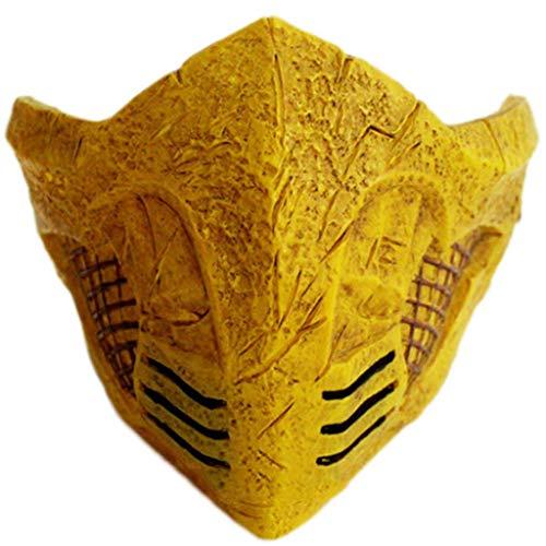 Liabb Mortal Kombat Maske Mortal Kombat Skorpion Maske Karneval Deadpool Kostüm Kinder Halloween PVC,A,18 * 17 * 12CM