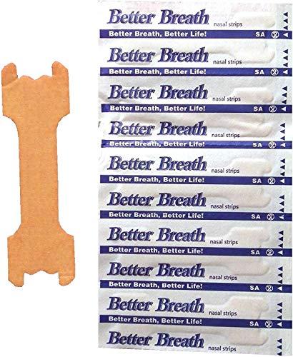 Nasenpflaster Premium - Groß (Large) - Sunglow Better Breathe - gegen Schnarchen - klein mittel groß verfügbar (200)