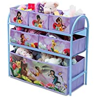 Delta Children's Products Multi Toy Organizer Fairies mit 6 Fächern und Metallgestell Aufbewahrungsboxen Spielzeugregal preisvergleich bei kinderzimmerdekopreise.eu