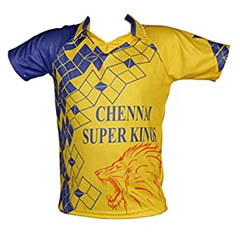 All over stylish digitally printed Cricket T-shirts - Inspired from - inspired from Men in Yellow M.S Dhoni Chennai Super Kings. Show off your team spirit with this unique looking t-shirt! Get yours today!