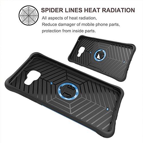 YHUISEN Galaxy A5 2016 Case, Hybrid Tough Rugged Dual Layer Rüstung Schild Schützende Shockproof mit 360 Grad Einstellung Kickstand Case Cover für Samsung Galaxy A5 2016 A510 ( Color : Gold ) Black
