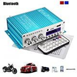 Amplificatore stereo Mini Bluetooth,ELEGIANT 12V Hi-Fi Mini Bluetooth Auto MP3 Amplificatore audio stereo AMP Scooter Booster Radio MP3 Amplificatore MP3 per Auto Motor CD DVD Blu