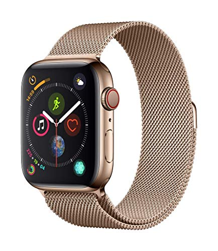 Apple Watch Series 4 GPS + Cellular, 44mm Silver Aluminium Case with Seashell Sport Loop