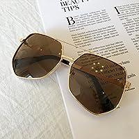 VVIIYJ Oblate Oval Occhiali da sole da donna con montatura rotonda Occhiali da vista ,montatura in oro nero