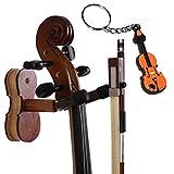 Moreyes Violon Cintre support mural?N?ud en bois à suspendre avec un violon Porte-clés emballés Rosewood Color