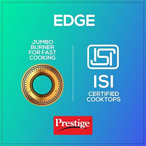Prestige Edge Schott Glass 3 Burner Gas Stove, Pastel