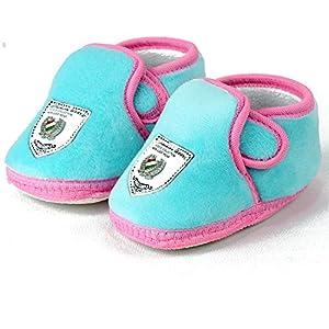 VLS Lifestyle (0-12 M) Velvet Plain Colour Baby Booties