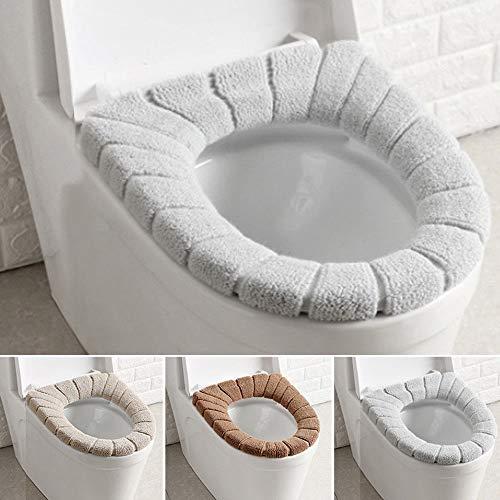 TXIN 3 Stücke Winter Toilette Sitzwärmer Universal Dehnbar Waschbar Tragbar Aborte Sitzbezüge für Camping Reisen Rhause Badezimmer