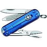 Victorinox Taschenmesser Classic SD (7 Funktionen, Klinge, Schere, Nagelfeile) blau