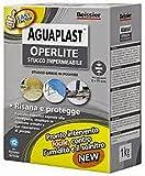 AGUAPLAST OPERLITE POLVERE KG 1 Stucco impermeabile pronto per l'uso, risana e protegge dall'umidità e dal salnitro 1kg