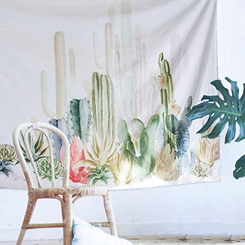 Wandtuch Yoga Wandbehang Tapisserie Hippie Tapestry Picknickdecke Staubtuch Tischdecke Wand Dekor Foto Requisiten aus Polyesterfaser, Gotisch Böhmen Stil (Kaktus 2, 200 x 150 cm) ()