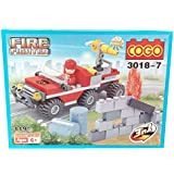 Shanaya Toys 119 Pieces 3 In 1 Building Blocks Set Toy For Kids - Fire Fighter Series