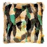 Pad Kissenhülle BYOB moderne Felloptik bunte Farben 45x45cm oder 55x55cm (türkis, 45x45 cm)