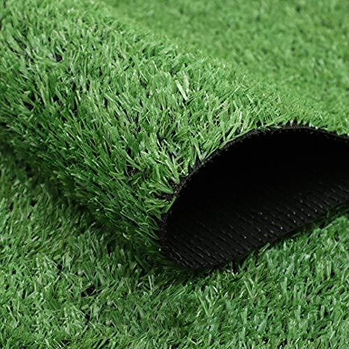 YEYE High-Density Kunstrasen,Outdoor Pet Turf Dekoration Mit Entwässerungsbohrungen Für Die Terrasse Balkontür Synthetischer Rasen-grün 200x550cm(79x217inch) -