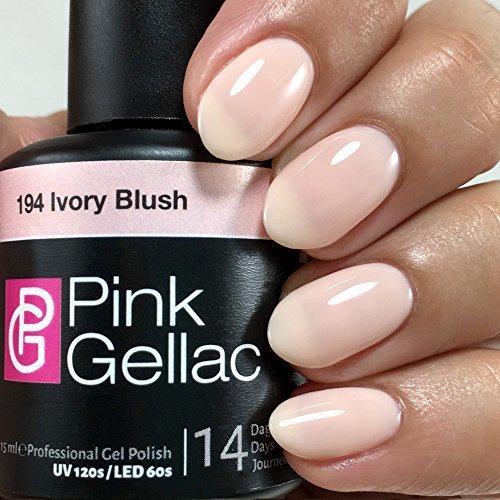 Pink Gellac 194 Ivory Blush UV Nagellack. Professionelle Gel Nagellack shellac für mindestens 14 Tage perfekt glänzende Nägel -