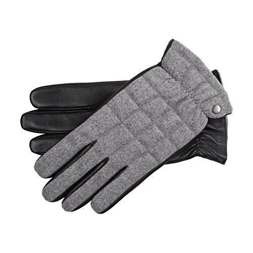 Roeckl Damen Handschuhe 11013-661, Mehrfarbig (Grey/Black 065), 8.5 (Herstellergröße: 8,5)