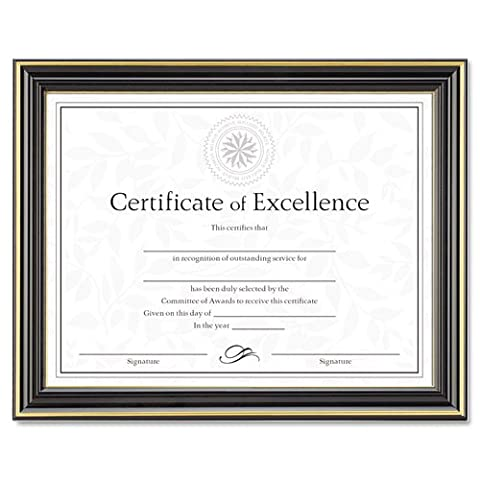 Dax N2709N6T Gold-Trimmed Document Frame with Certificate Wood 8-1/2 x