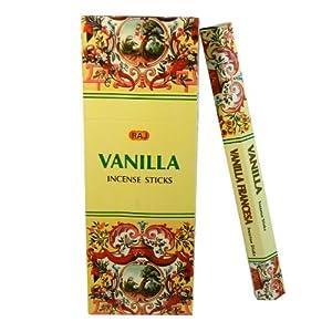Räucherstäbchen Vanilla 120 Sticks 6 Schachteln Vanille Duft Wohnaccessoire Raumduft Deko