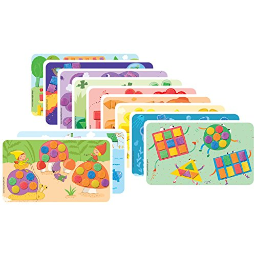 PlayMais 160086 'FUN TO LEARN' Zusatzset Colors & Forms, Kartonvorlagen, bunt, 14-teilig (1 Set)