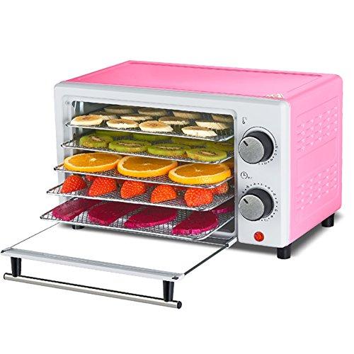 Q&D Elektrisch Obst Dörrautomat Maschine mit Timer und Einstellbare Temperatur Steuerung 5 Tier