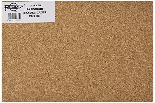 Faibo 605 - Plancha de corcho, 10 unidades