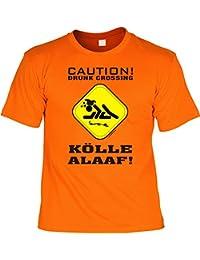 KARNEVAL Fun T-Shirt -- People Kölle Alaaf! Caution Drunk Crossing -- Geschenk zum Fasching mit Urkunde Spassvogel