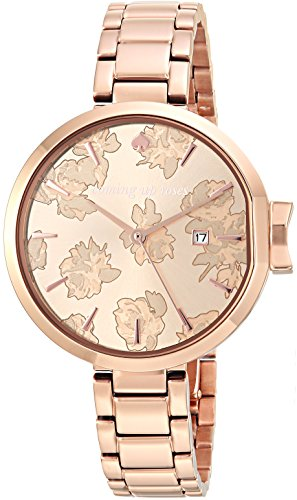 Kate Spade New York Women's 'Park Row' Quartz Stainless Steel Casual Watch, Color Rose Gold-Toned (Model: KSW1397)