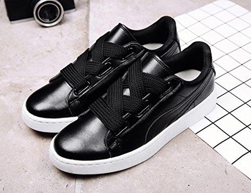 HWF Scarpe donna Spring Plate Shoes Female Sports Flat Casual Shoes Scarpe da studente singolo femminile ( Colore : Nero , dimensioni : 39 ) Nero