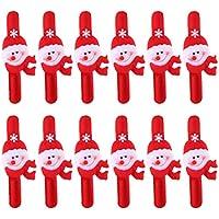 12x Christmas Xmas Pupazzo Di Neve Della Fascia Schiaffo Polso Bambini Wristband Party Favors