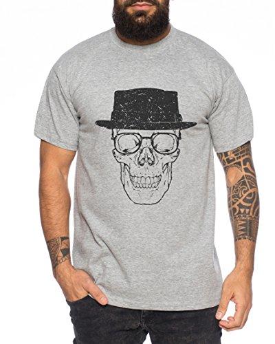 Bad Walter Skull Meth White Crystal Breaking Tv Herren T-Shirt, Farbe:Dunkelgrau Meliert;Größe:M (T-shirt Crystal Skull)