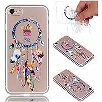 Preisvergleich für iPhone 8 Hülle, iPhone 7 Hülle, CrazyLemon Soft Flex Silikon Transparent Ultra Dünn Schlank Bumper Handyhülle...