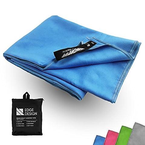 Premium Mikrofaser Handtuch Reise Sport Fitness Yoga | XL 70x140cm | Hoch saugfähige, leichte & antibakterielle Microfaser (Blau, 70x140 cm)