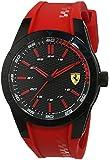Ferrari 0830299 RedRev - Reloj analógico de pulsera para hombre (cuarzo, correa de silicona)